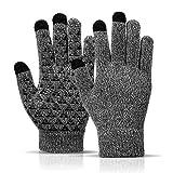 Sitthyw Handschuh Warmes rutschfeste Gloves Touchscreen Strick Warme und Winddichte Gloves für...