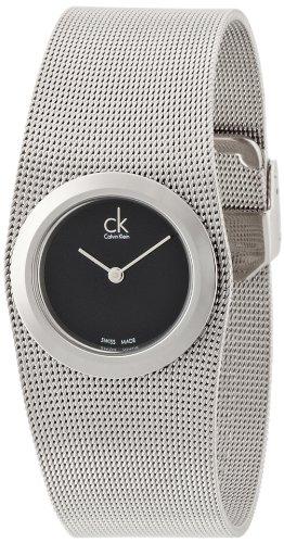 Calvin Klein Damen Analog Quarz Uhr mit Edelstahl Armband K3T23121