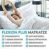 BELVANDEO I Orthopädische Kaltschaummatratze mit 7-Zonen - 90x200 cm I H3-80 bis 120-kg I 18 cm hoch I Flexion Plus I Endlich auf Einer bequemen Matratze schlafen - 3