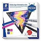 STAEDTLER 61 DJT1 Zodiac Sign Watercolour Set - Juego de acuarelas de signos del zodiaco