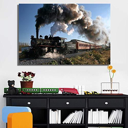 Leinwanddruck Klassische Dampflok Poster Und Drucke Wandkunst Leinwand Malerei Züge Dekorative Bilder Für Livin