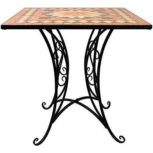 Multistore 2002 Mosaik Tisch 70x70cm Mosaiktisch Bistrotisch Beistelltisch Gartentisch Balkontisch Terrassentisch