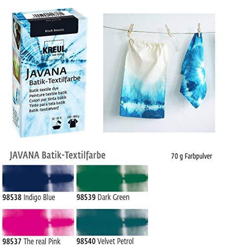 Batikfarben Set, 4 Batik Textilfarben im Set New Colors