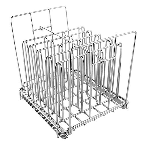 JINBAO Stainless Steel Sous Vide Rack, Detachable Dividers Separator, Ensures Even Warming, With Adjustable No-Float Top Bar, For Most 12l Containers