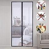 Zanzariera magnetica per porta, zanzariera da balcone, zanzariera per porta, 100 x 210 cm, anti mosquito,Full Frame Velcro, per ferro, porte in alluminio e balcone, soggiorno, porta scorrevole