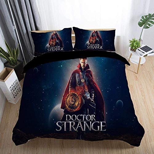 299 Duvet Cover Sets 3D Doctor Strange Printing Christmas Child Adult Bedding Set 100% Polyester Duvet Cover 3 Pieces With 2 Pillowcases J-UK King230*220cm