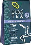 Cusa Tea: Immune Boost Herbal Tea - Immune Support Tea for Cold and Flu Relief - Refreshing Mint Tea...
