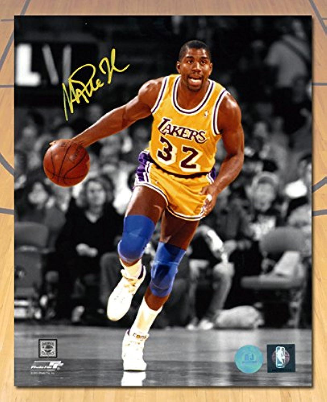 Magic Johnson Los Angeles Lakers Autographed Spotlight 11x14 Photo