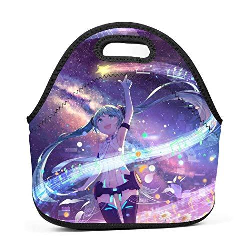 Shichangwei Reusable Alone_Miku Lunch Bags for Teens Neoprene Cooler Lunch Boxes Waterproof