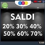 mural stickers Vetrofanie SCONTI-Fuori Tutto- 20%-30%-40%-50%-60%-70% cod.1390