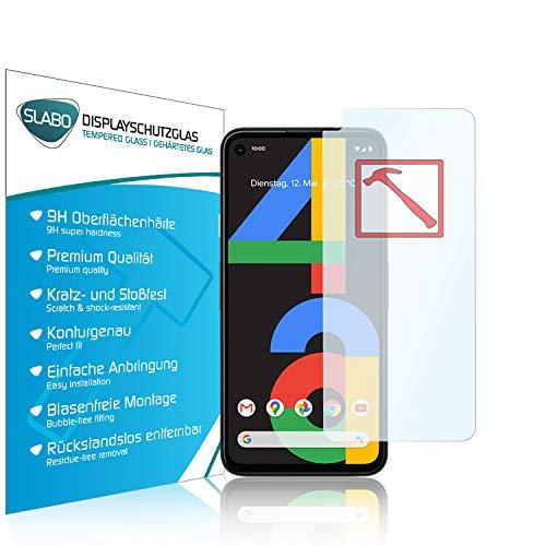 Slabo Premium Panzerglasfolie für Google Pixel 4a Panzerfolie Schutzfolie Echtglas Folie Tempered Glass KLAR 9H Hartglas