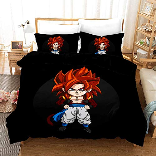 299 Duvet Cover Sets 3D Dragon Ball Printing Child Adult Bedding Set 100% Polyester Gift Duvet Cover 3 Pieces With 2 Pillowcases T-UK King(230x220) cm