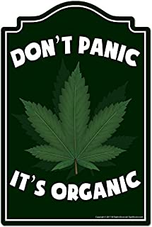 Don't Panic It's Organic Novelty Sign | Indoor/Outdoor | Funny Home Decor for Garages, Living Rooms, Bedroom, Offices | SignMission personalized gift, 10