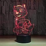 Boutiquespace Luz nocturna USB 3D LED, luz nocturna para niños, regalo de pizza, lámpara de mesa de noche para dormitorio con impresión 3D fina, luz nocturna LED, luz de ambiente