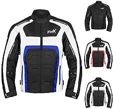 Textile Motorcycle Jacket For Men Dualsport Enduro Motorbike Biker Riding Jacket Breathable CE ARMORED WATERPROOF (Blue, L)