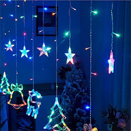 Wandskllss Led Star cortina luces ventana cortina tira cuerda luces para Navidad boda fiesta jardín interior interior decoración color