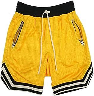 Carolilly Pantaloncini Uomo Palestra Asciugatura Rapida Costume da Bagno Uomo Pantaloncini da Corsa da Basket da Allenamen...