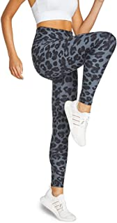 Rockwear Activewear Women's Snow Leopard Fl Gathered Booty Tigh from Size 4-18 for Bottoms Leggings + Yoga Pants+ Yoga Tights