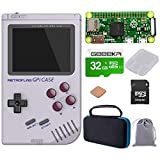GeeekPi Retroflag GPi Case with Raspberry Pi Zero W & Raspberry Pi Heatsink & Black Carrying Bag & 32G SD Card for Raspberry Pi Zero and Zero W with Safe Shutdown (GPi Case with Zero W Bag 32G)