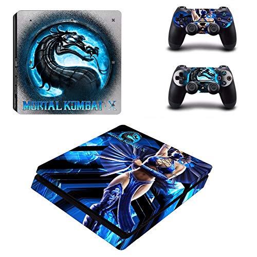 FENGLING Juego Mortal Kombat X Ps4 Slim Skin Sticker para Sony Playstation 4 Consola y Controlador para Dualshock 4 Ps4 Slim Sticker Decal