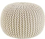 COTTON CRAFT - Hand Knitted Cable Style Dori Pouf...