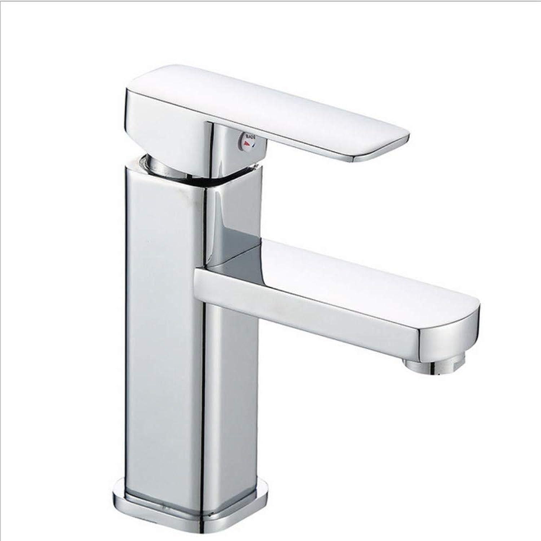 Moderner Hahn-Badezimmer-Hahnwaschbecken-Hahn-heier und kalter vierseitiger Bassin-Hahn-einzelner Handgriff einzelnes Loch