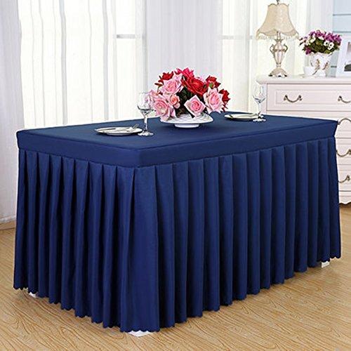 GBBD Tischdecken Konferenz Tischdecke Kaltes Speisetisch Rock Rock Sign In Schreibtisch Rock Ausstellung Aktivitäten Tischdecke Weiß Tischdecke Tisch Sets Tischtuch (Farbe : F, größe : 7#)