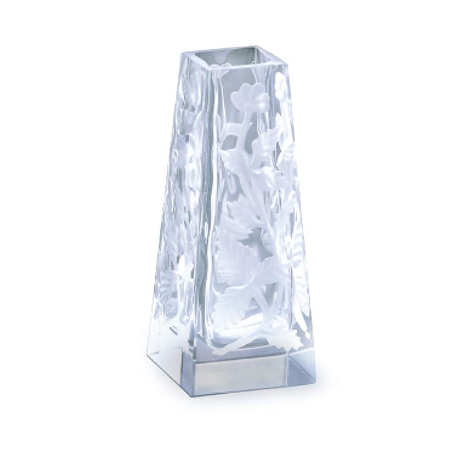 四回月花瓶 : 廣田硝子 196 コロン 一輪差し 5.8x5.8xH11.4cm 550013 日本製