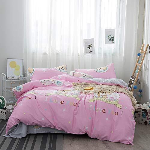 huyiming bed linings Utilizzato per Cartone Animato per Bambini in Quattro Pezzi di Spessore AB Versione JT010-4 1,2 m : 150 * 210/120 * 200 + 20/48 * 74
