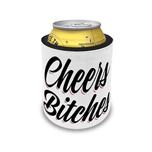 Slap Can Coolers Vintage Lettering Cheers Bitches Insulator Sleeve Covers Neonblond