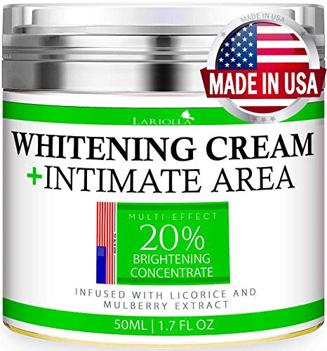 Whitening Cream - Advanced Skin Bleaching Cream for Face - Body - Intimate Areas - Underarm...