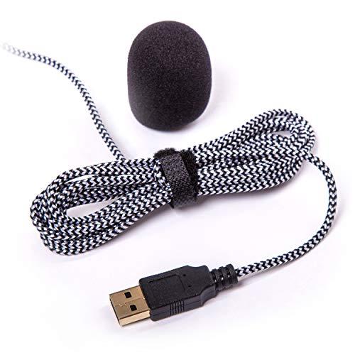 eMacht® Voice Control Plug&Play 2m USB Mikrofon Rot, Gaming, Multimedia, Mute LED, Dual Mikrofonboost CPU, PC, PS, Mac