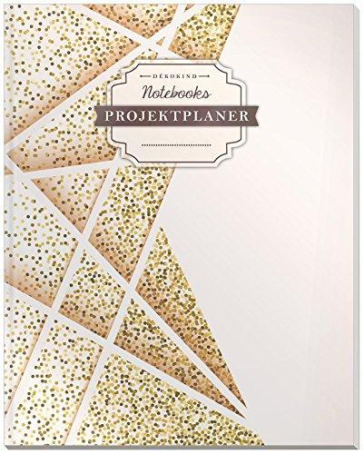 DÉKOKIND Projektplaner | DIN A4, 100+ Seiten, Register, Kontakte, Vintage Softcover | Für über 50 Projekte geeignet| Motiv: Futuristisch
