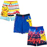 Pokemon Pikachu Little Boys 3 Pack Mesh Swim Trunks Multicolored 7