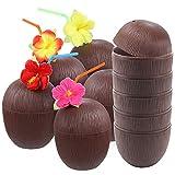 FUTUREPLUSX Tropical Coconut Drink Cups,...