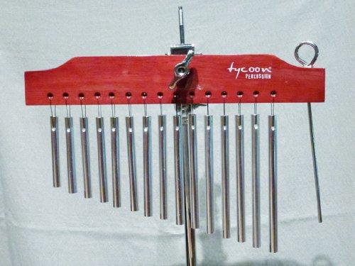 Tycoon Percussion TIM-15CBR 15 - Campanas tubulares con barra de madera, color cromado y madera