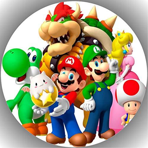 Fondant Tortenaufleger Tortenbild Geburtstag Super Mario T17