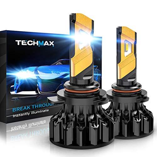 TECHMAX 9012 LED Headlight Bulb, HIR2 12000Lm 6500K Xenon White Conversion Kit of 2