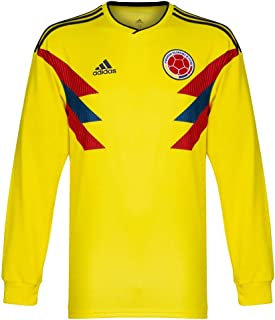 d1480a24b96 adidas 2018-2019 Colombia Home Long Sleeve Football Soccer T-Shirt Camiseta
