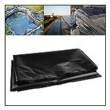 GAOYUY Teichfolie, HDPE-Membran Hochleistungs Landschaftsbau Pool Teich wasserdichte Auskleidung Für Fischteiche, Bäche Brunnen Und Wasser (Color : Black, Size : 5X10ft/1.5X3M)
