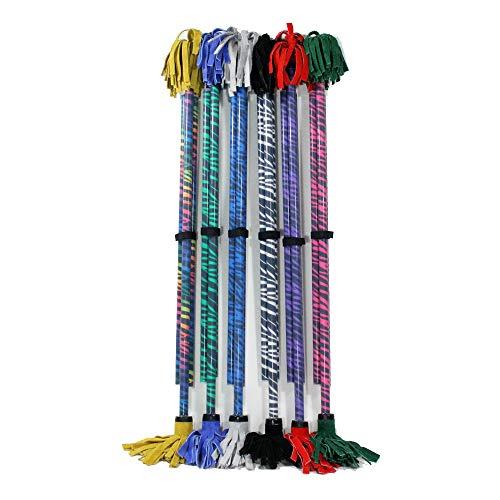 Best Deals! Z-Stix Flower Juggling Stick- Devil Stick- Zebra Series- Choose The Perfect Size (Mosquito, White)