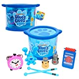 Blue's Clues & You! Musical Drum Set, Kids Toy Instruments, Drum, Tambourine, Washboard, Clackers, Shakers, by Just Play