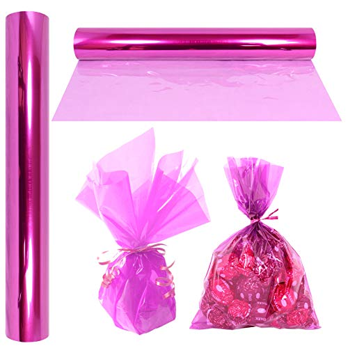 EASTER White Dot Clear Cellophane Florists Crafts Wrap Hampers Bouquets GIFTS