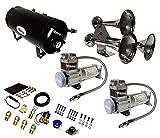 Viking Horns V103C2X-6-12/307 Super Loud 170 Decibels Train Air Horn Kit, with Dual 200 PSI Air Compressors