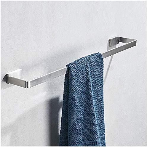 GYCS Barra de Toalla para Estante de baño, fácil instalación con Autoadhesivo, sin Perforaciones en Las Paredes, toallero Cepillado de Acero Inoxidable 304 Premium / 11.8~31.5 Pulgadas (tamaño: