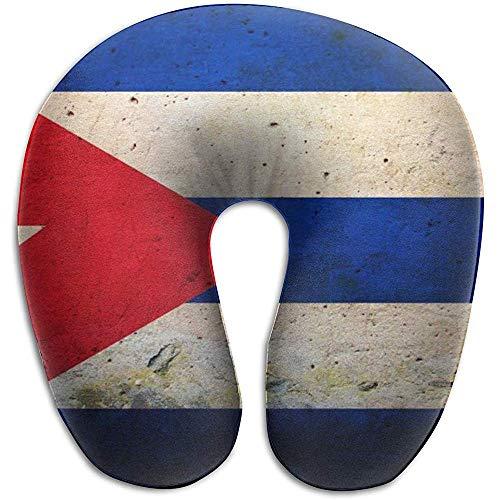 Warm-Breeze Retro kubanische Form-Kissen der Flaggen-U für Reise, Hals-Massage-Gedächtnis-Schaum-Hals-Unterstützung