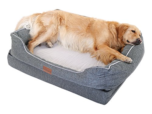 PLS Birdsong Fusion Orthopedic Dog Bed with Bolster