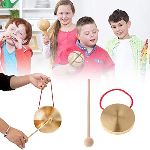 Knowled 4 Zoll Mini Gong Percussion für Bands Oder Musikalische Kinderspielzeug 10CM Well-Matched