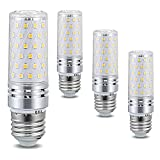 Bombilla LED E27 de 12 W (Equivalente a una lámpara halógena de 120 W), Ángulo de Haz de 1320Lm 360 °, Bombillas de Tornillo E27 Edison para iluminación del hogar, No Regulable, Paquete de 4