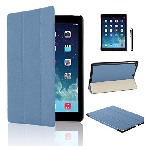 MOFRED Light Blue Ultra Slim New Apple iPad Air 2 (Launched Oct. 2014) Leather Case Cover, Full Protection Smart Cove